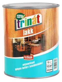 TRINÁT SELYEMFÉNYŰ LAKK - Beltéri festékek - Fa - Fa - Felület típusa - Hígításmentes - Hígíthatóság - Márka - Trinát