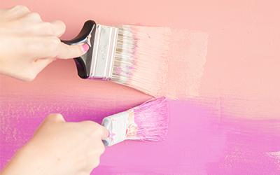 beltéri falfestés színátmenetes technikával
